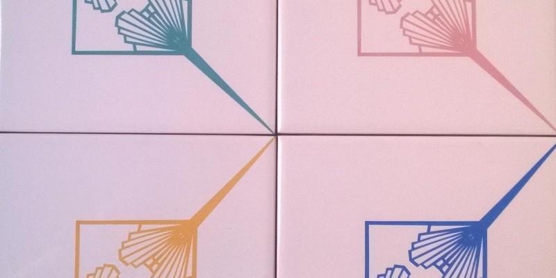 Novas cores de azulejos para a estampa Leque Duplo!
