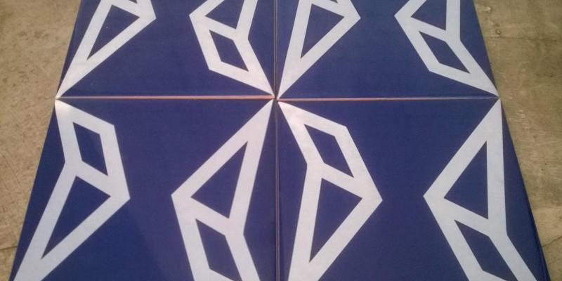 Projeto com azulejo Tangrá