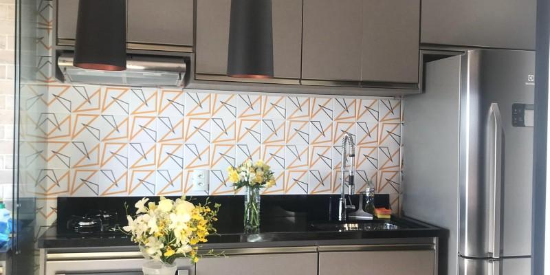 Cozinha com nosso Azulejo Bossa!