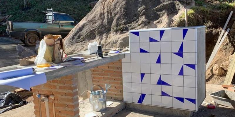 Projeto na montanha com azulejos Geo!