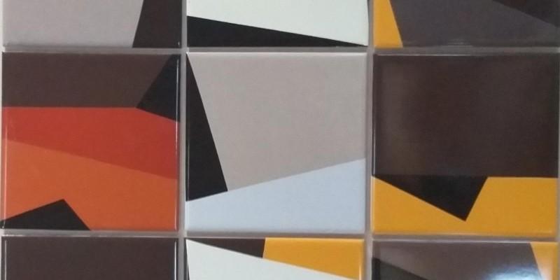 Azulejos geométricos feitos a mão!
