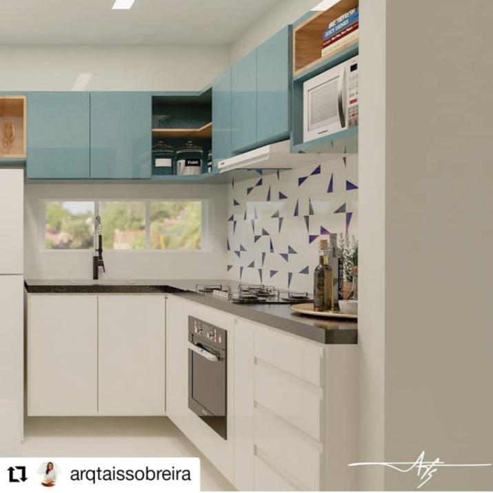 Cozinha com nosso azulejo GEO