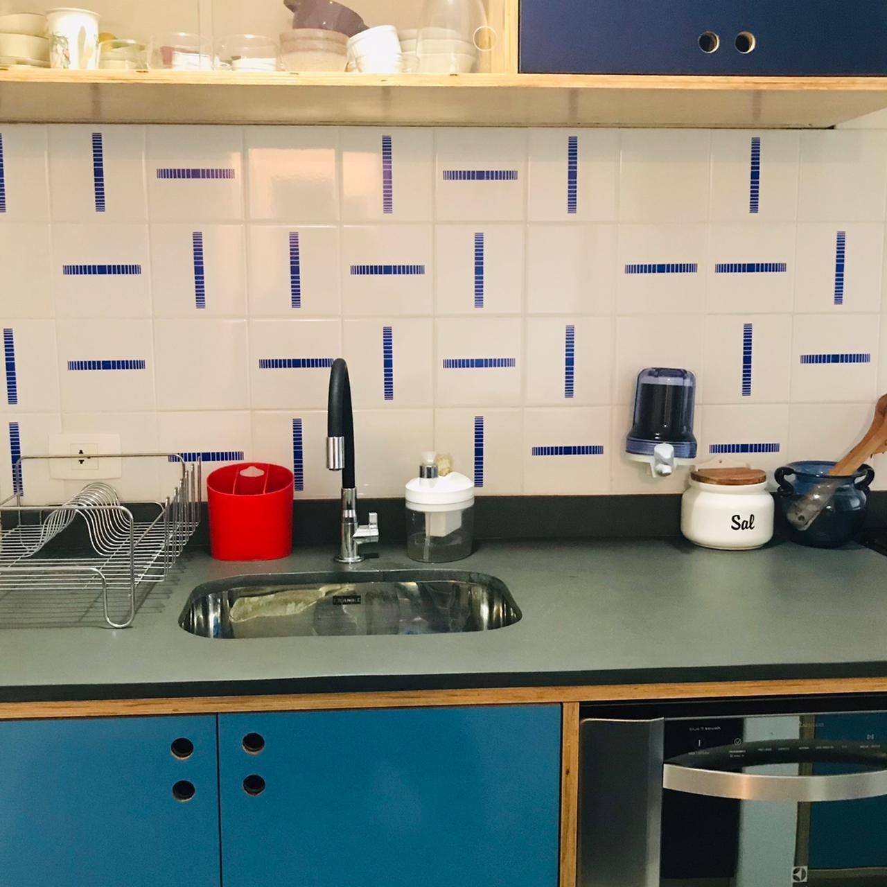 Projeto de cozinha com azulejos SOLO
